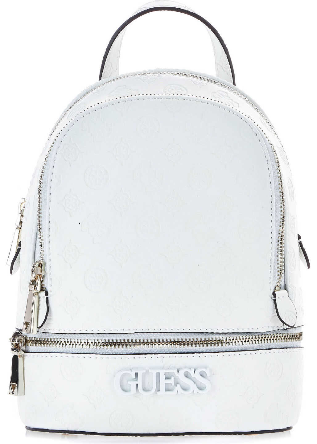 GUESS Small backpack with logo imprint White