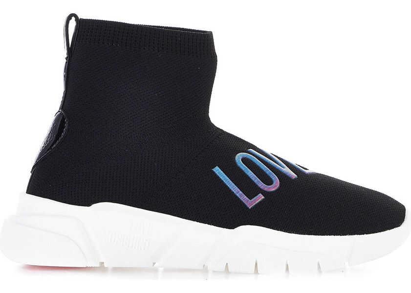 Pantofi sport Dama LOVE Moschino Sock sneaker with logo detail