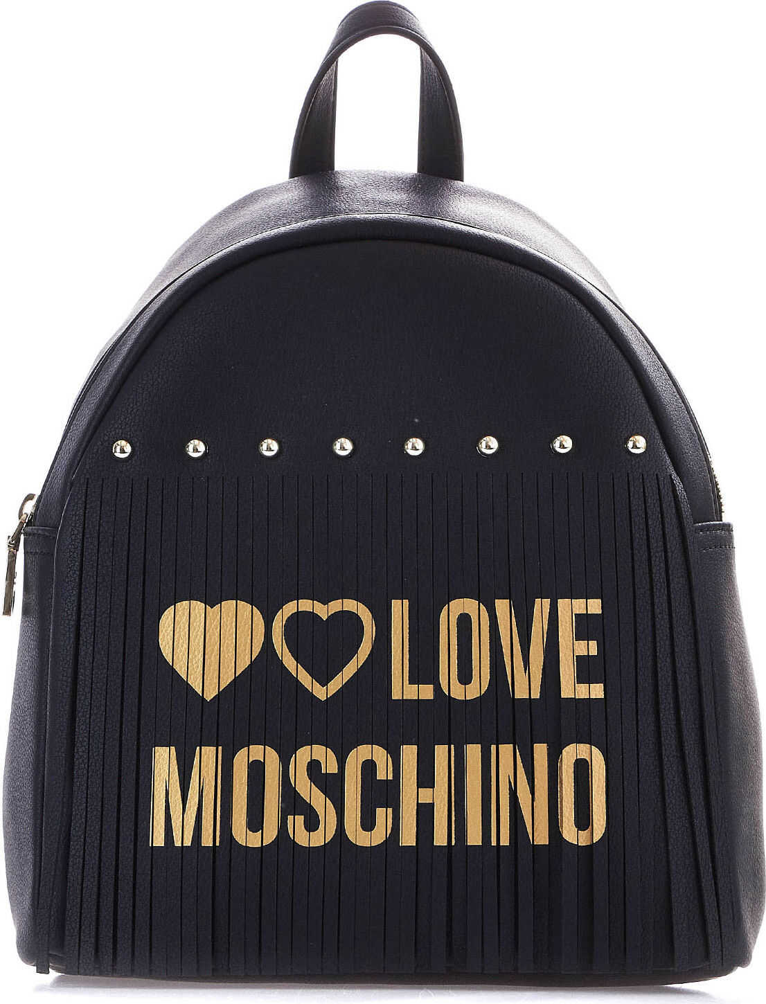 LOVE Moschino Backpack with fringe detail Black
