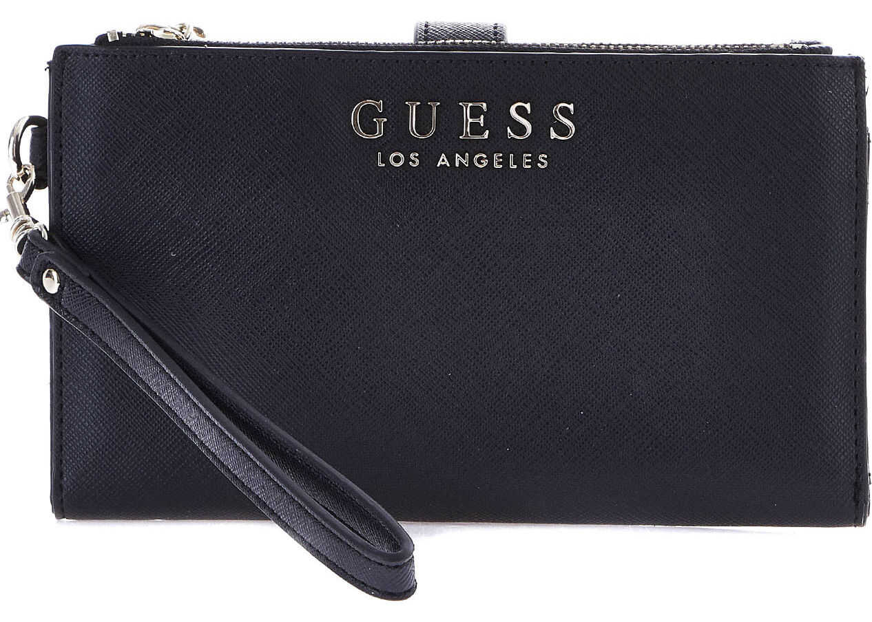 GUESS Wallet with smartphone insert Black
