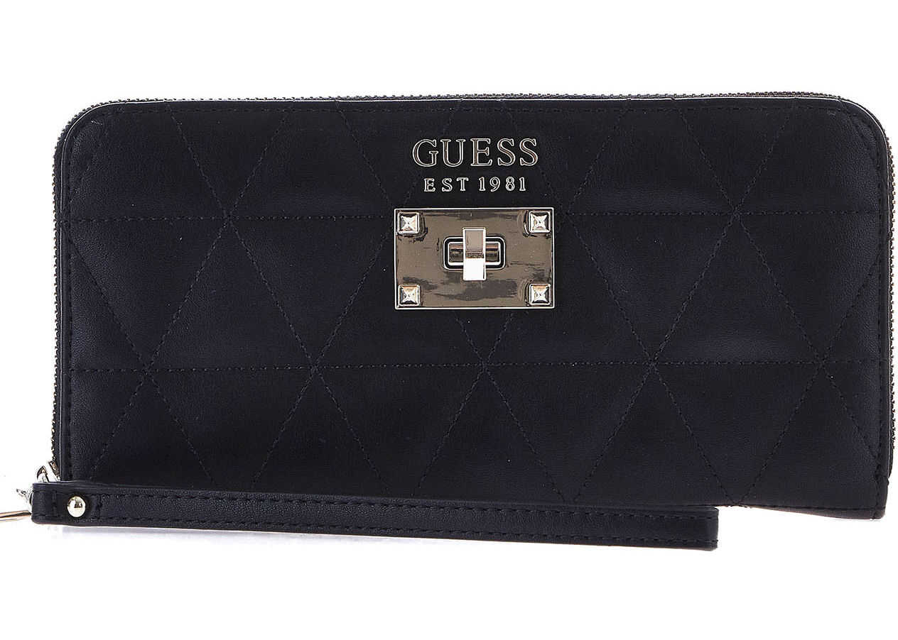 GUESS Quilted wallet Black