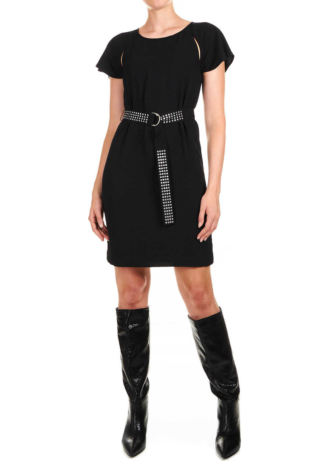 GUESS Mini dress with strass belt Black