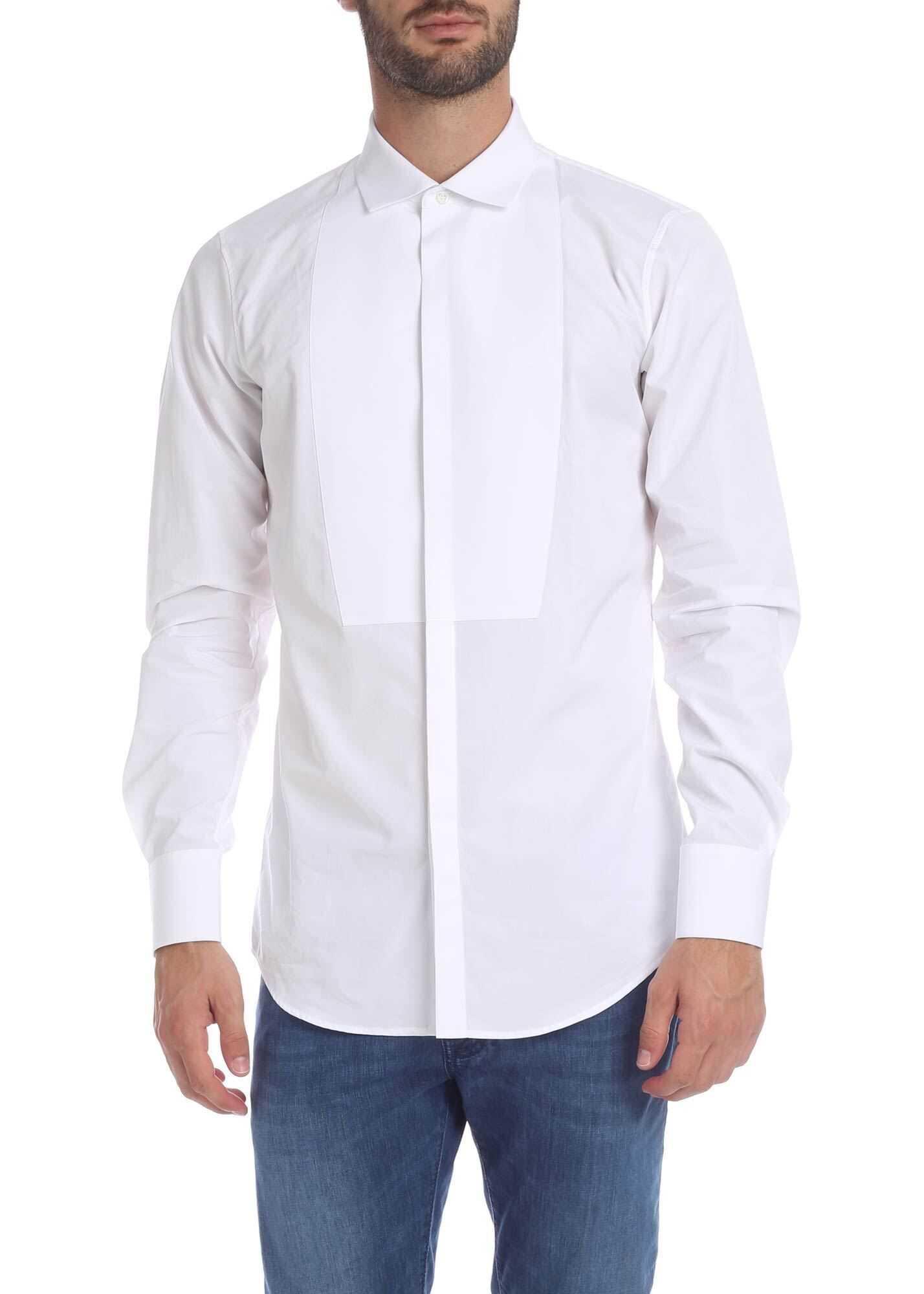 DSQUARED2 White Bibed Shirt White