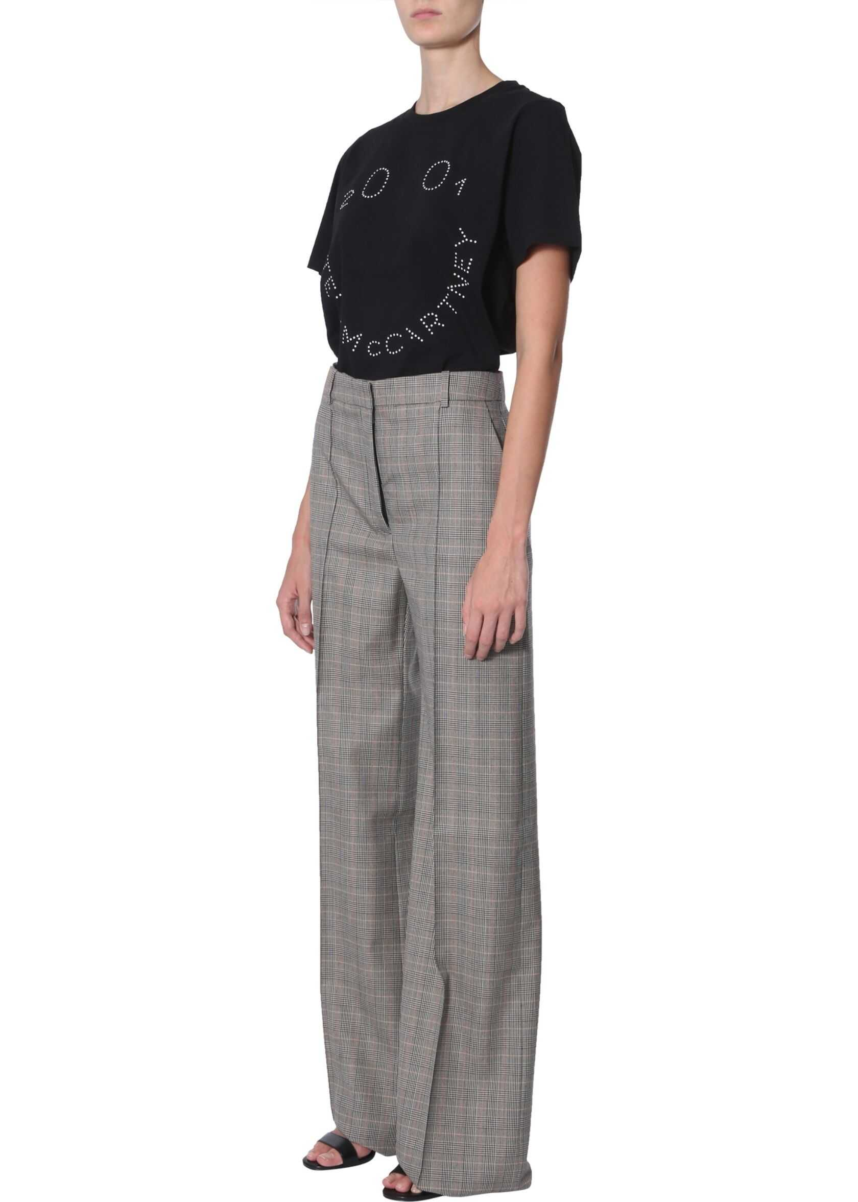 adidas by Stella McCartney T-Shirt With 2001 Logo Print BLACK