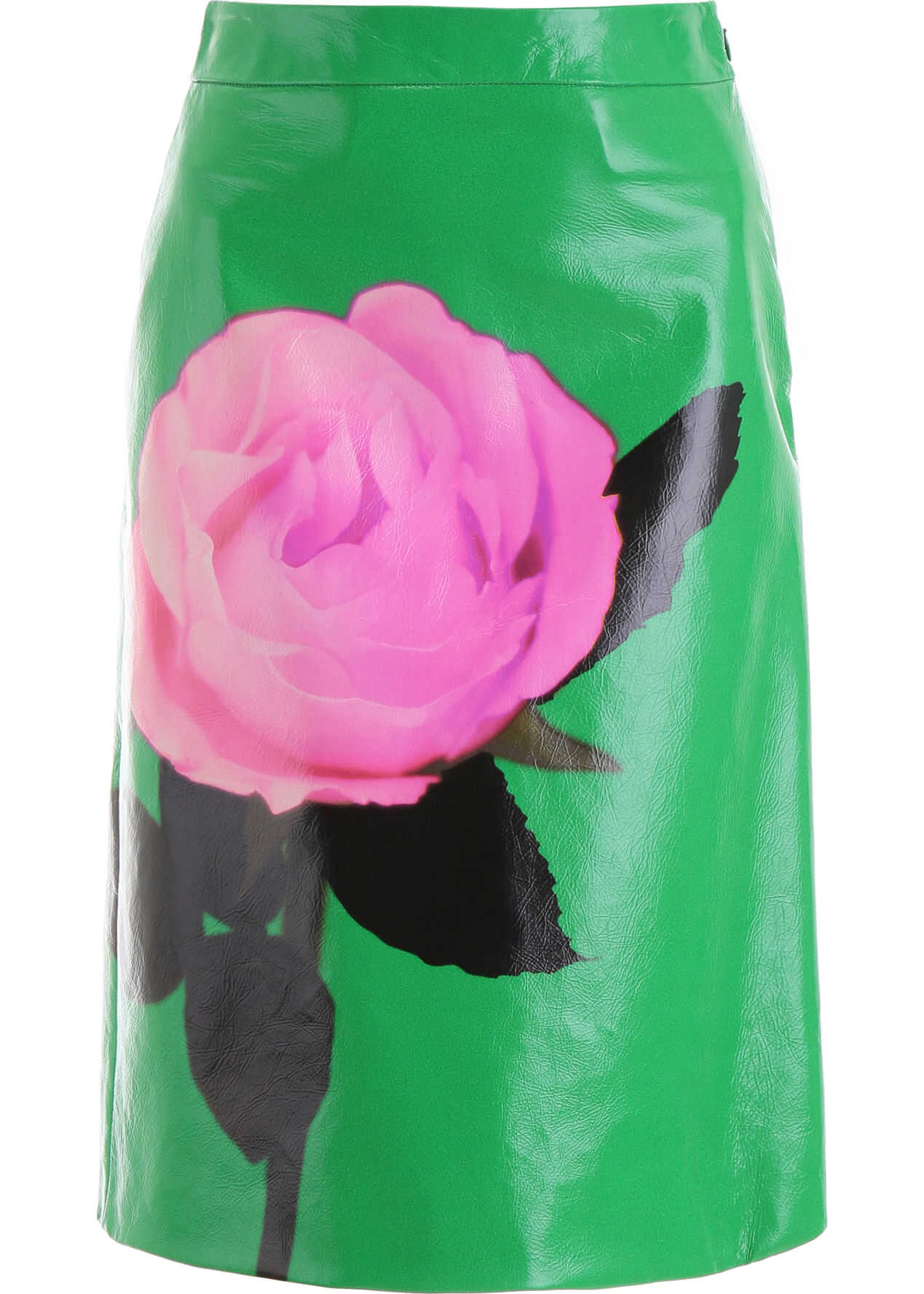 Prada Printed Leather Skirt PRATO PINK