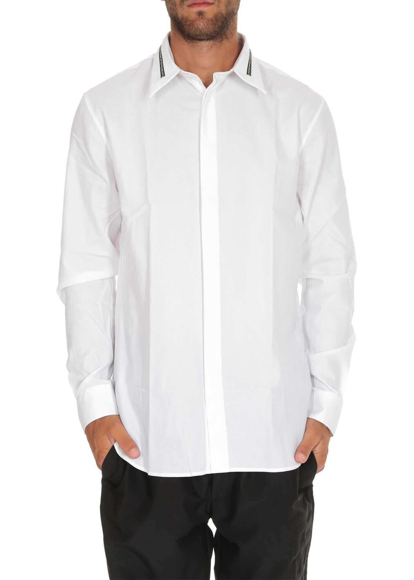 Givenchy Shirt With Givenchy Band On The Collar White