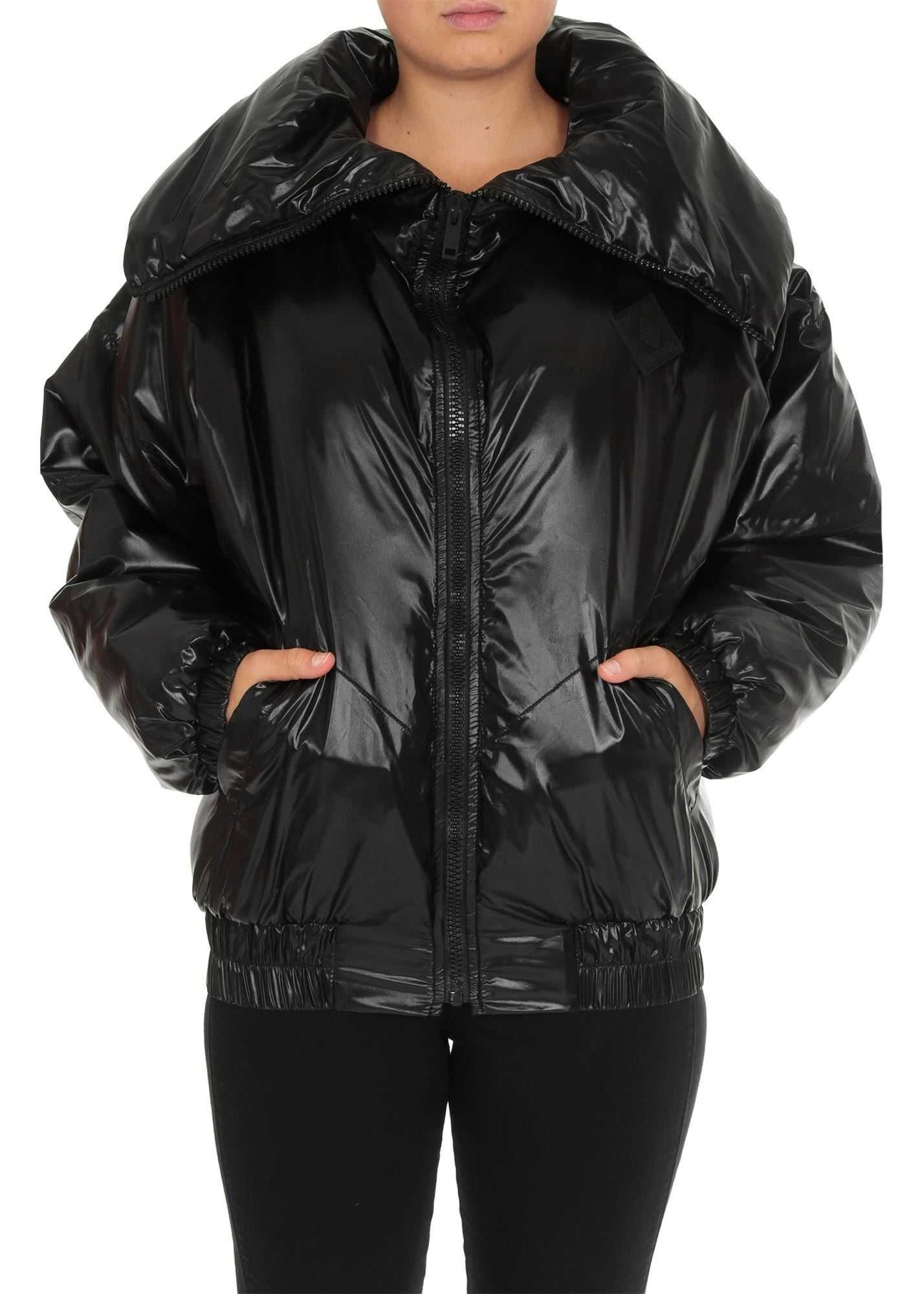 Givenchy Givenchy Down Jacket In Black With Oversize Collar Black