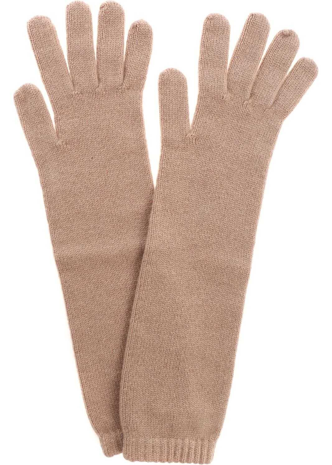 Kangra Cashmere Camel Cashmere Gloves Camel