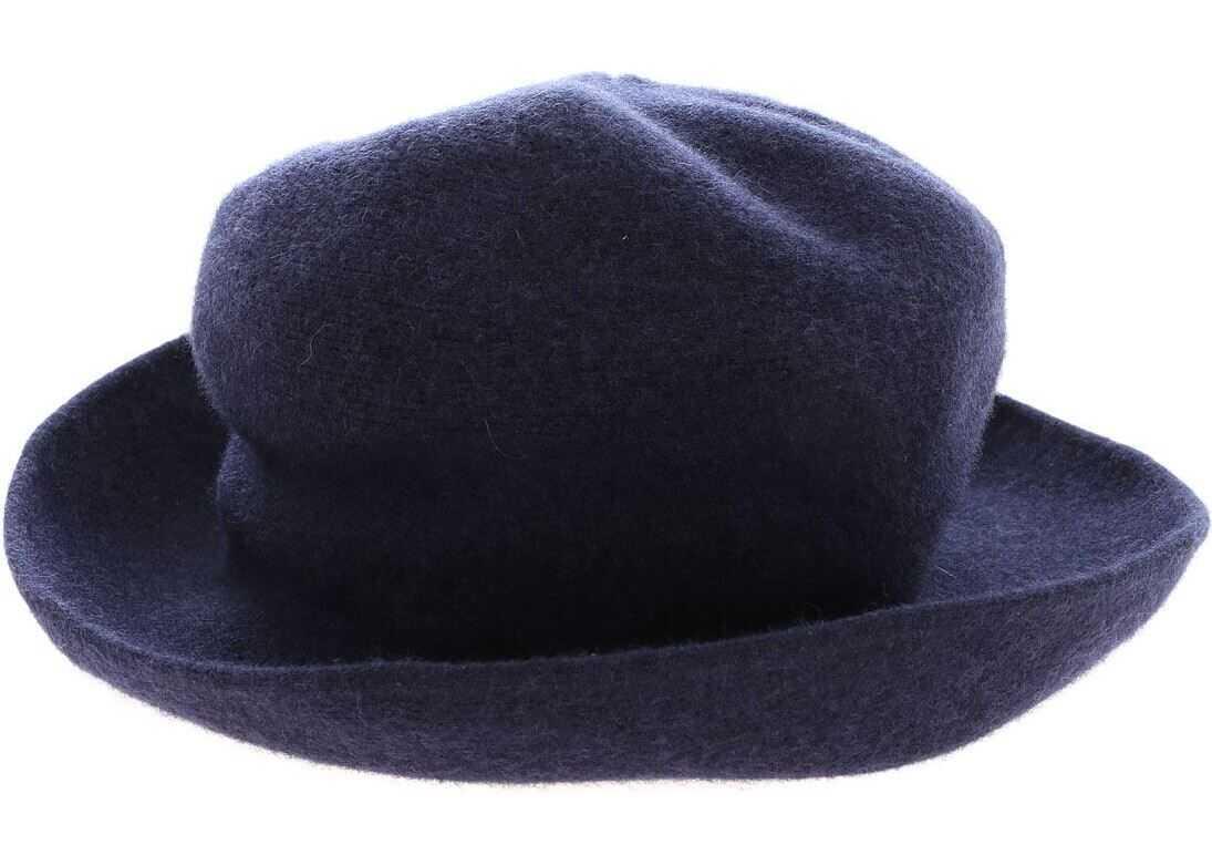 Kangra Cashmere Blue Merino Wool Hat Blue