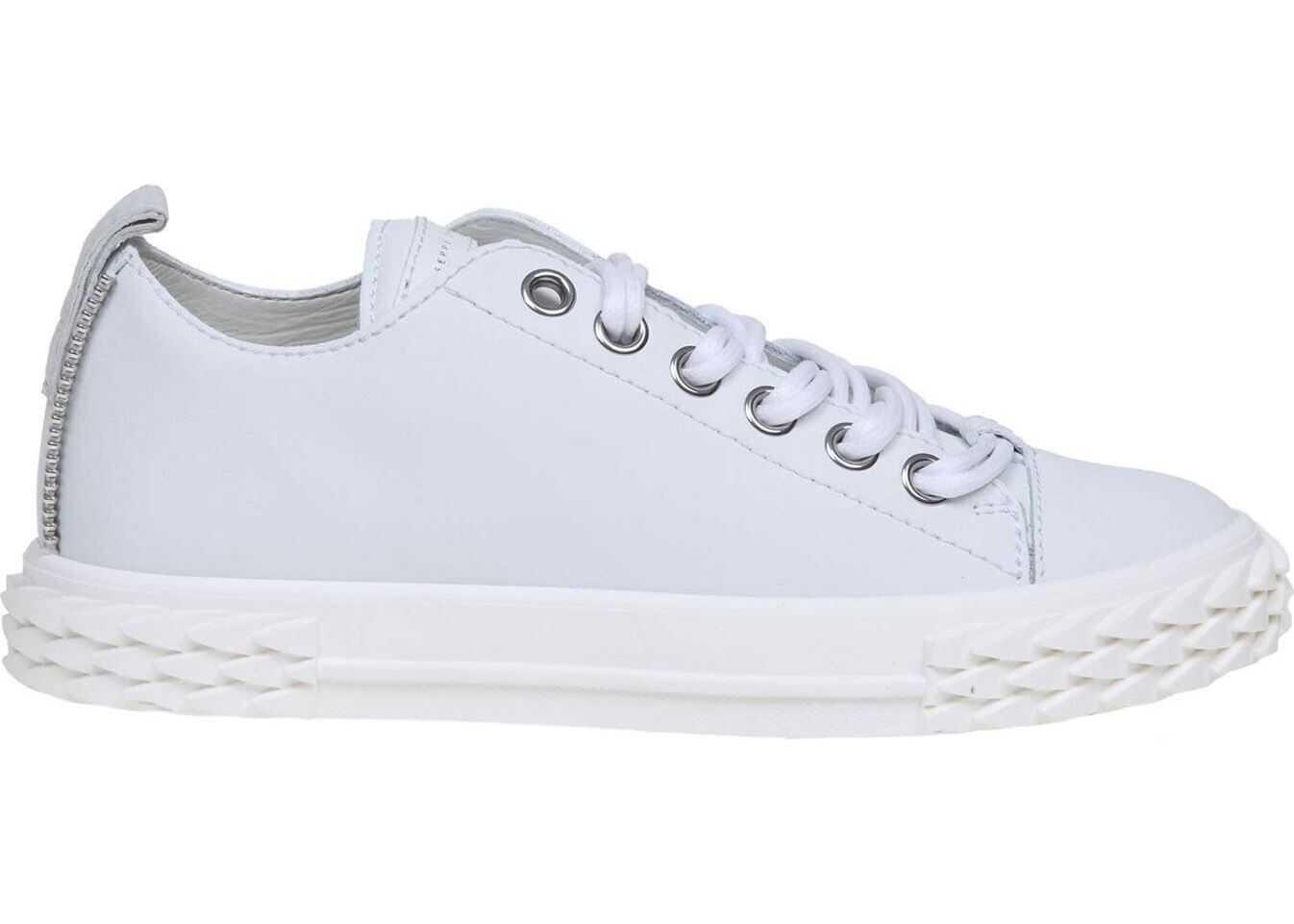 Giuseppe Zanotti Blabber Sneakers In White Leather White