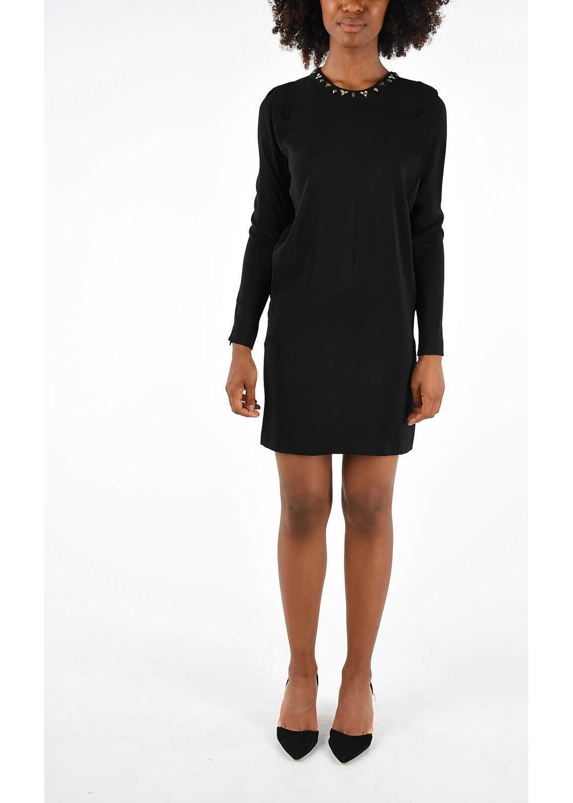 Just Cavalli Studded Shirt Dress BLACK