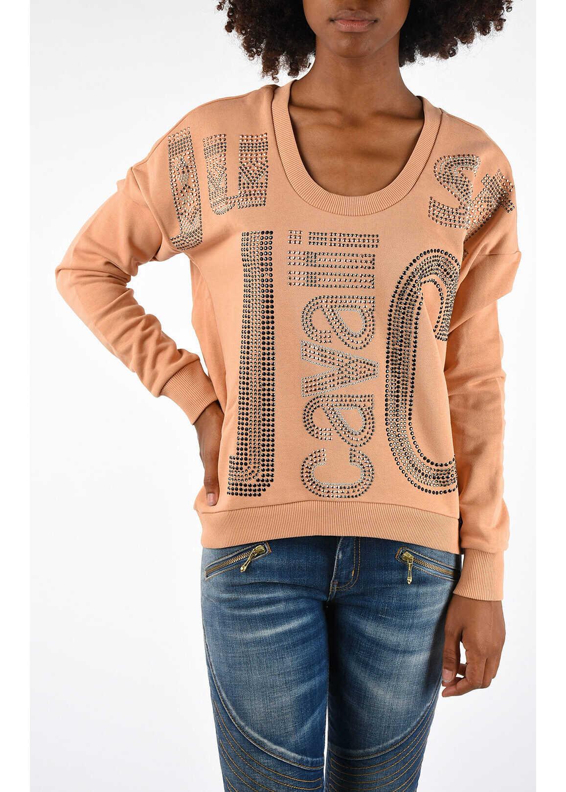 Just Cavalli Sweatshirt With Strass PINK