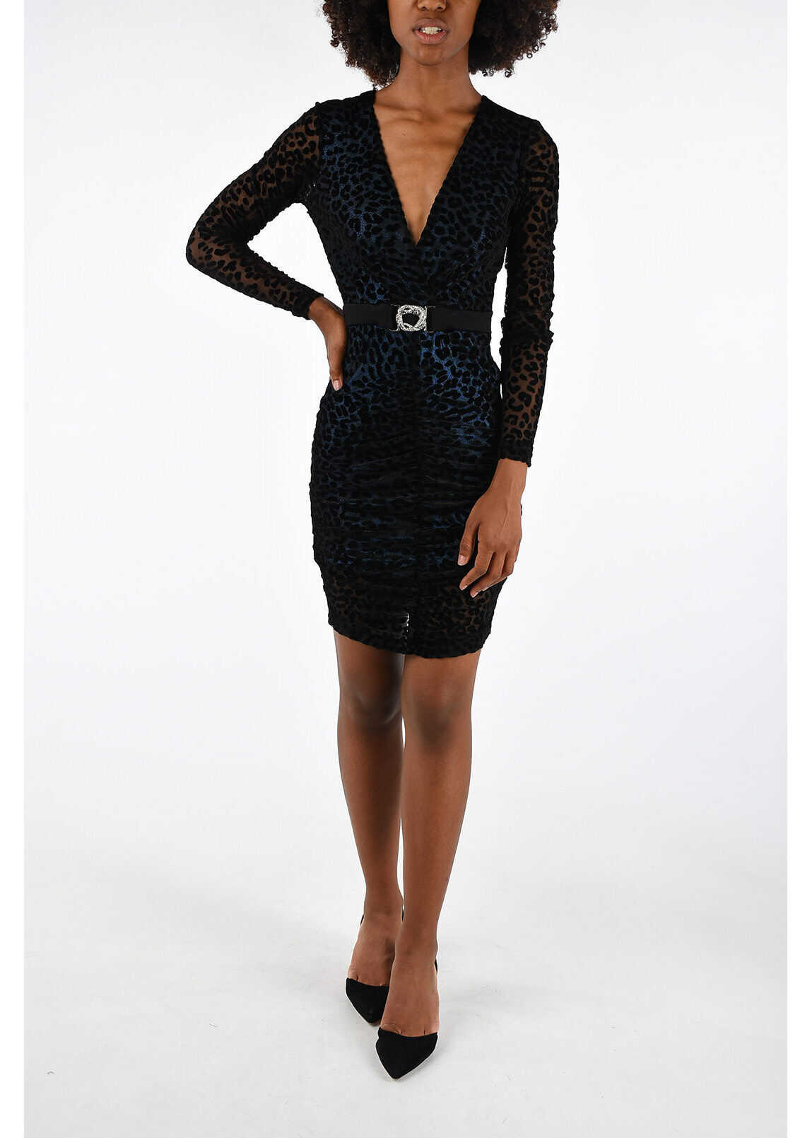 Just Cavalli Printed Dress BLACK