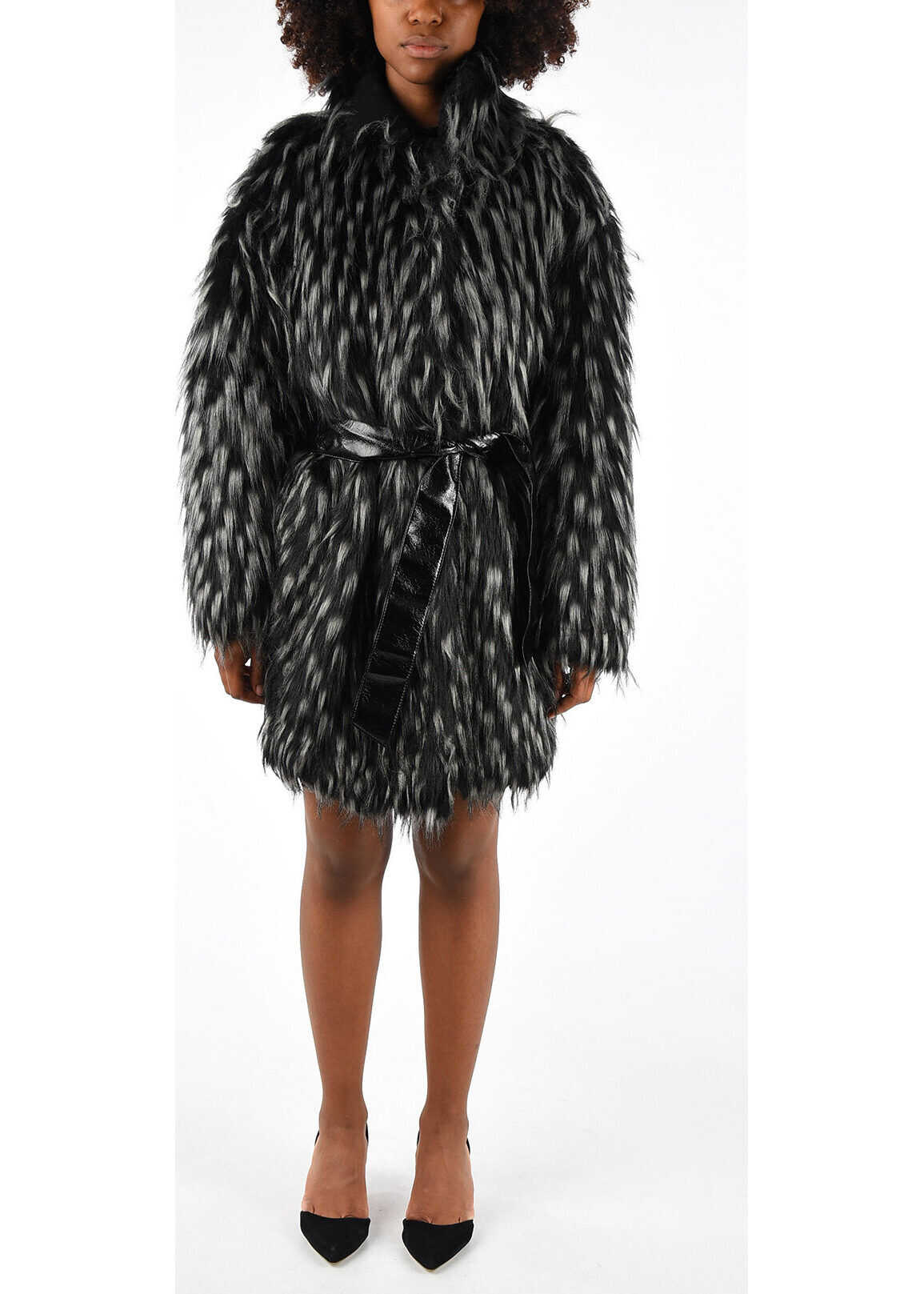 Just Cavalli Eco Fur Coat MULTICOLOR