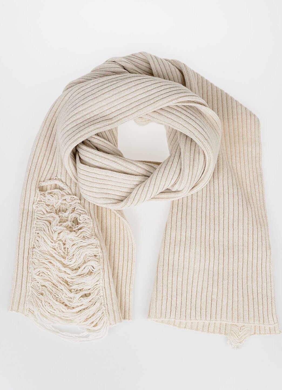 Maison Margiela MM10 Wool Scarf WHITE