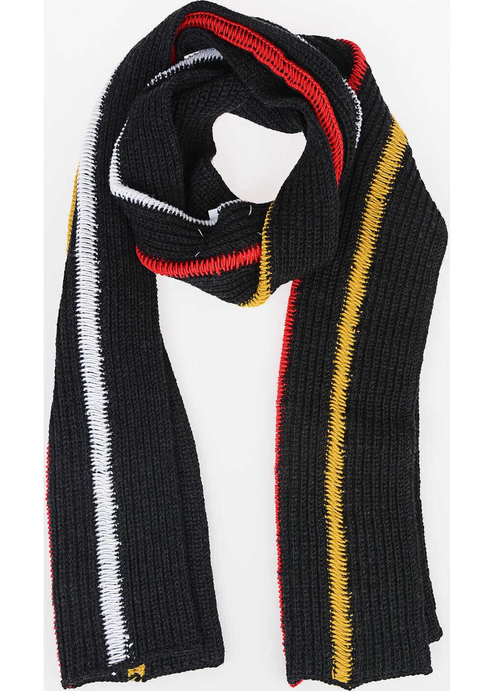 Maison Margiela MM10 Wool Striped Scarf MULTICOLOR