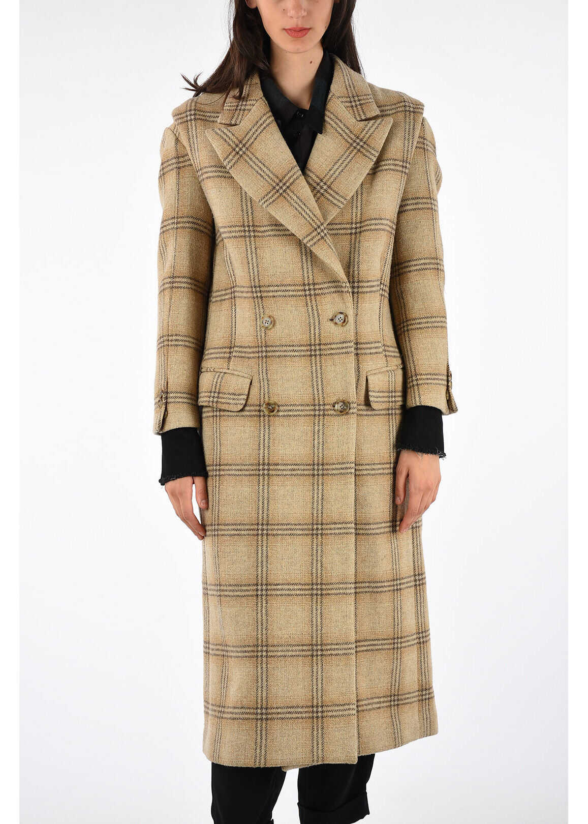 MM6 Checked Coat