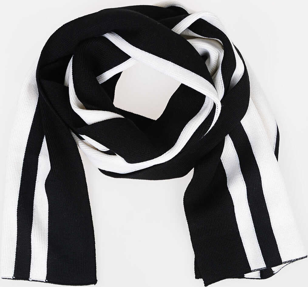 Maison Margiela MM10 Wool Striped Scarf BLACK & WHITE
