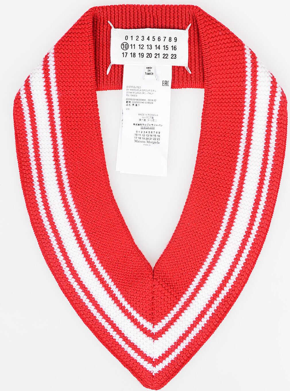 Maison Margiela MM10 Wool Collar RED