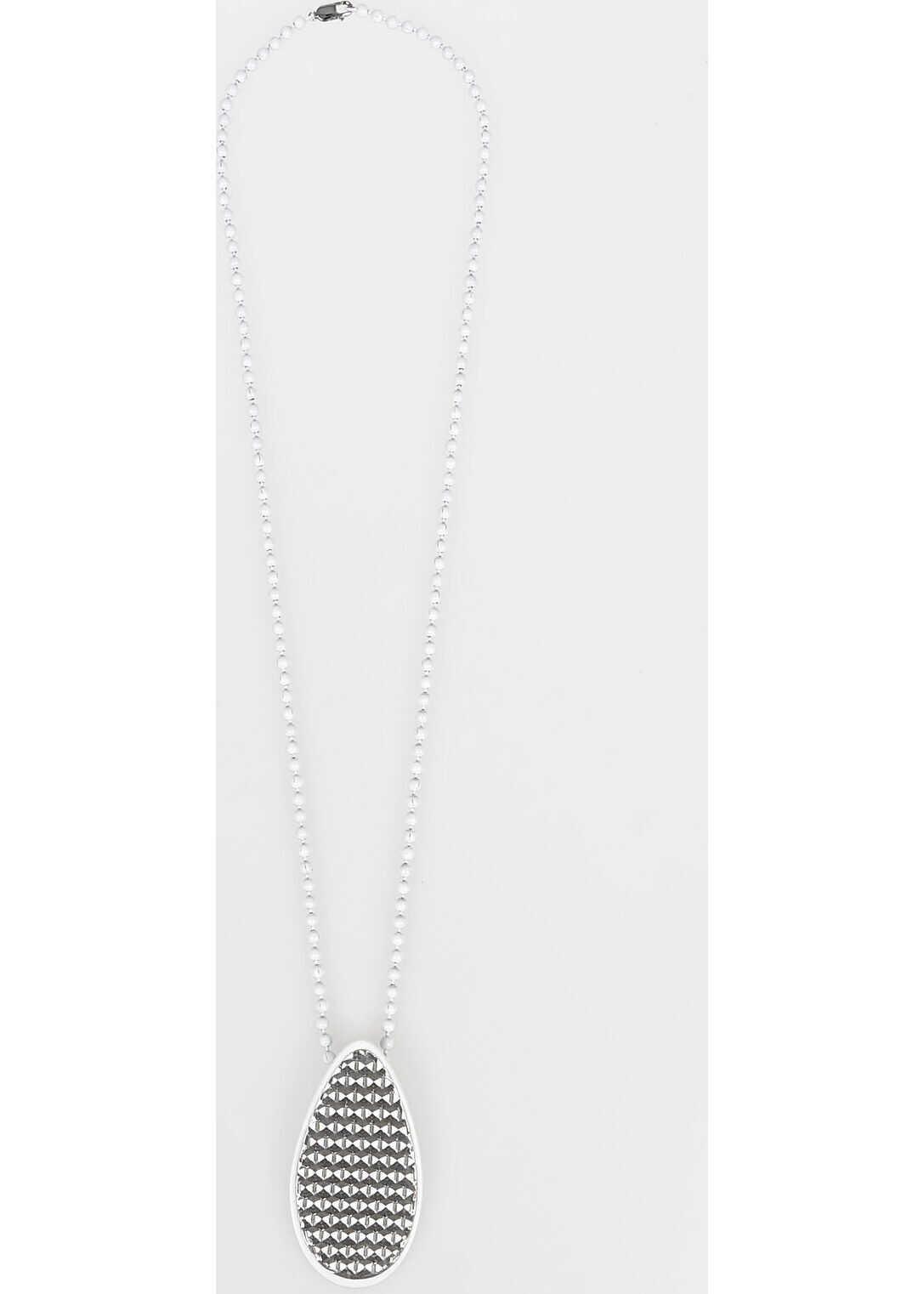 Maison Margiela MM11 Necklace with Pendant WHITE