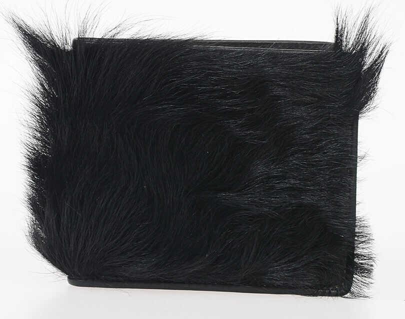 Portofele Barbati Maison Margiela MM11 Fur and Leather Wallet