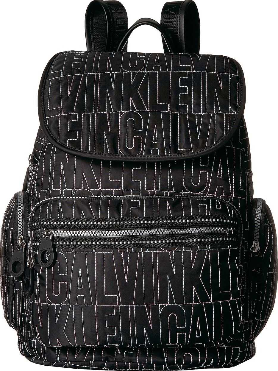 Calvin Klein Athleisure Quilted Nylon Backpack Black Quilt