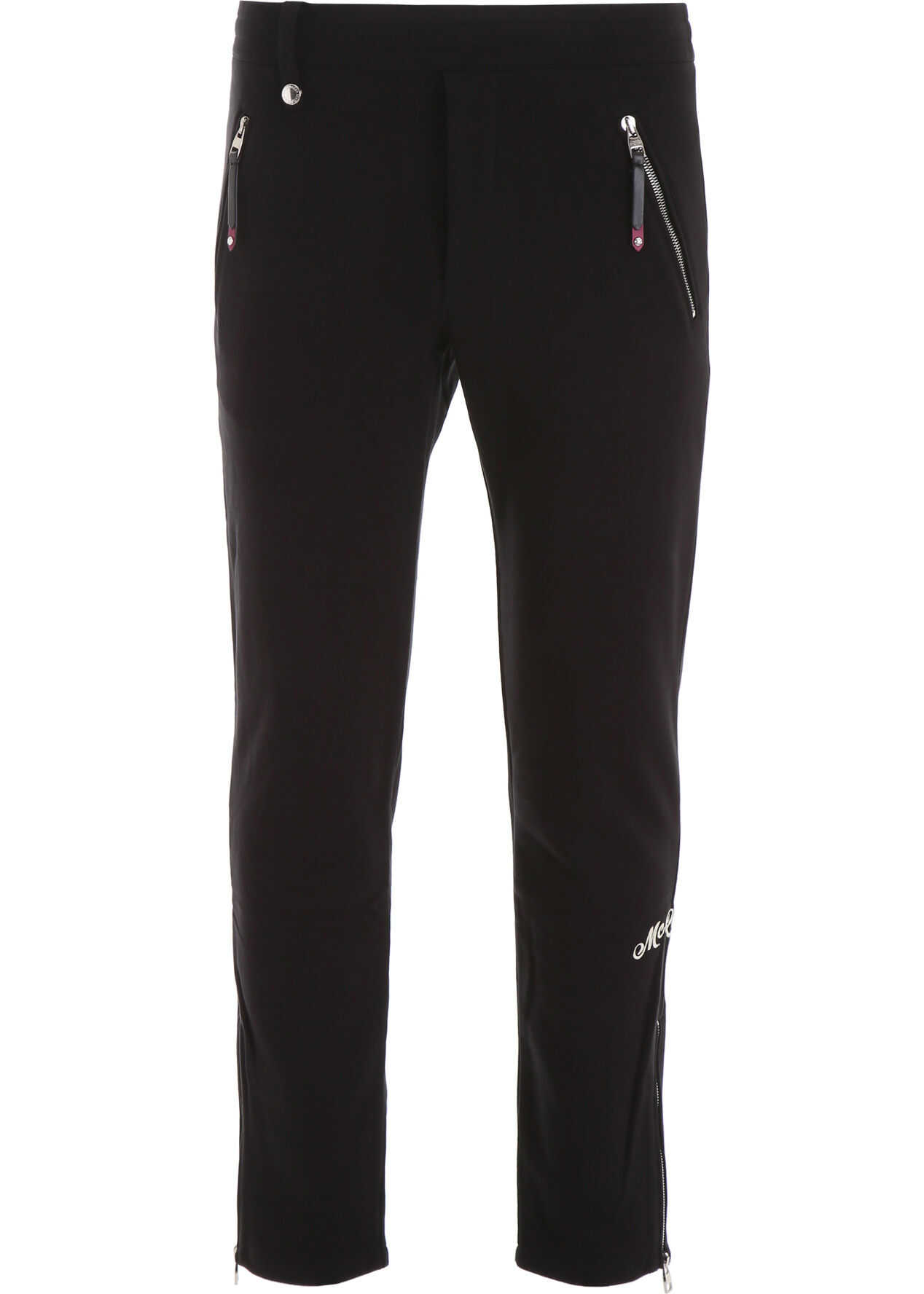 Alexander McQueen Joggers With Embroidered Logo BLACK