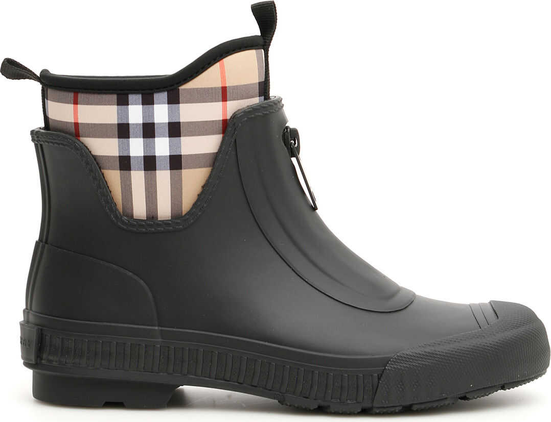 Burberry Flinton Rain Boots BLACK