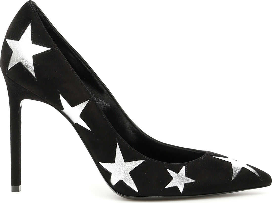 Saint Laurent Anja Pumps 105 NERO ARGENTO