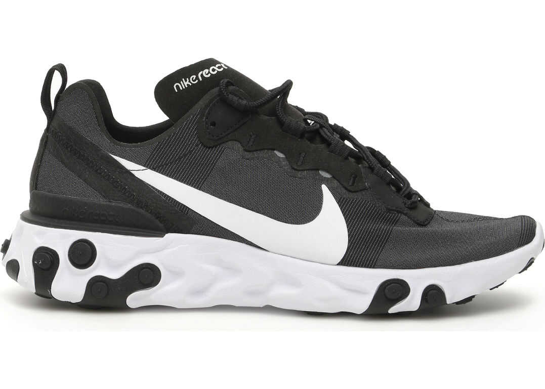 Nike React Element 55 Sneakers BLACK WHITE