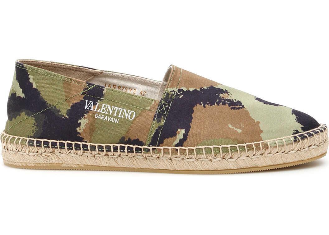 Valentino Garavani Camouflage Espadrilles MARINE ARMY SORBET