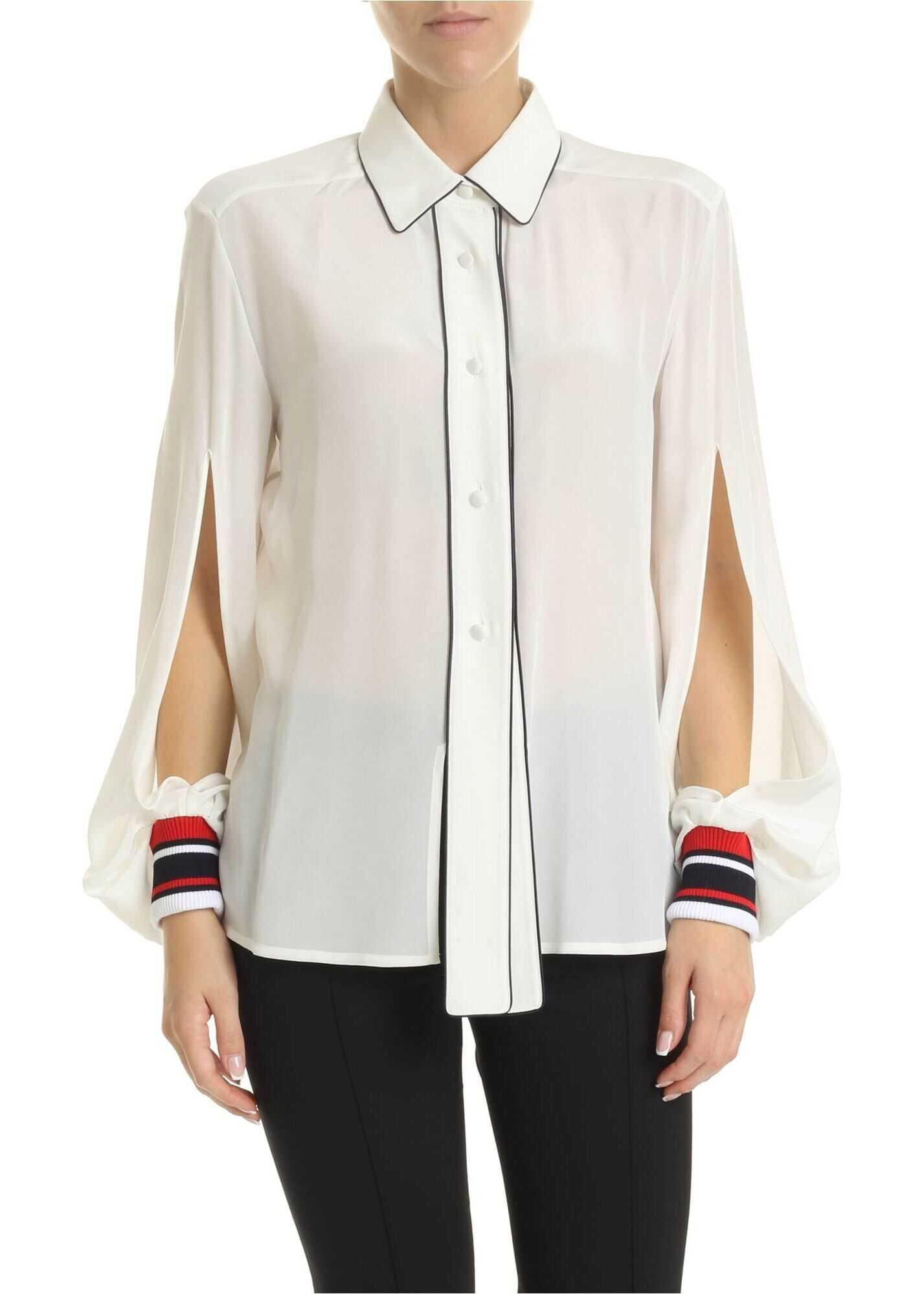 Golden Goose Isako Shirt In White Silk White