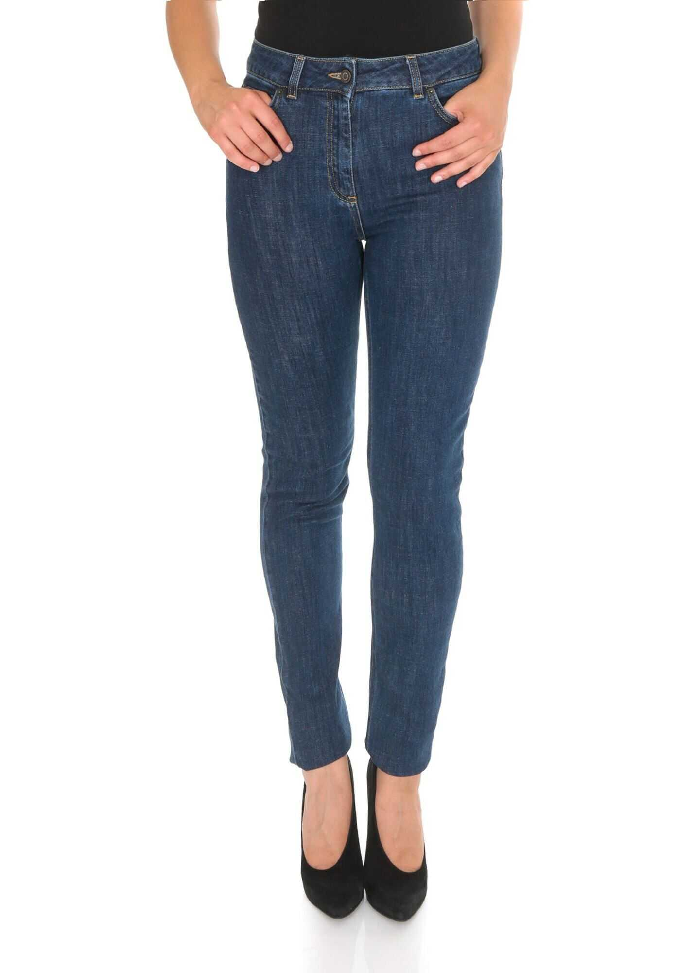 Moschino Teddy Jeans In Blue Cotton Blue