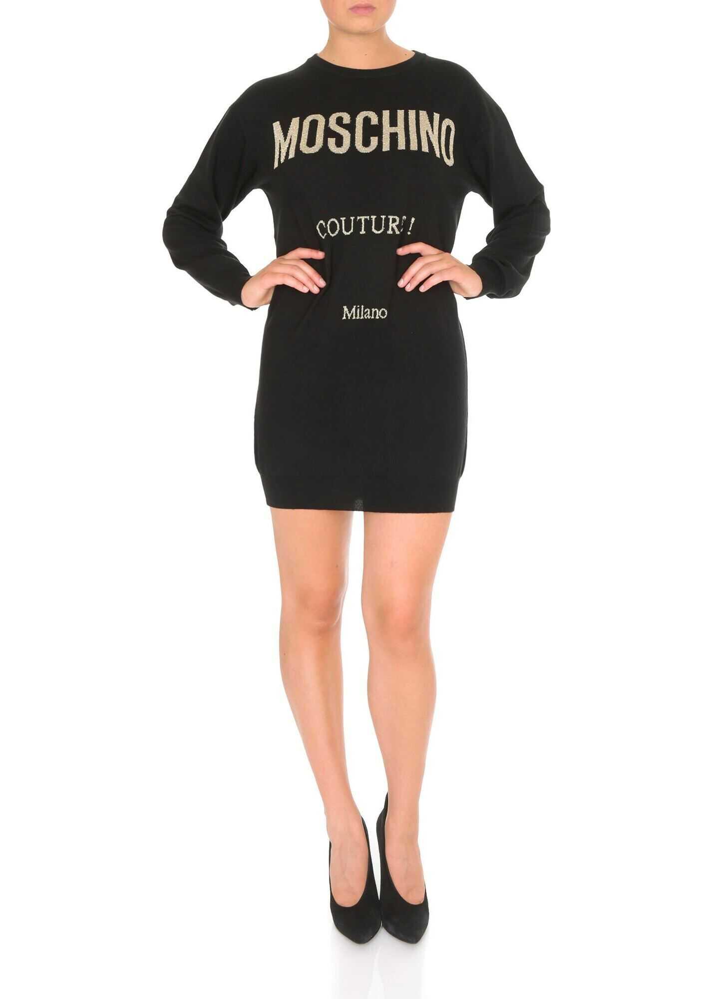 Moschino Moschino Dress In Black Wool Black