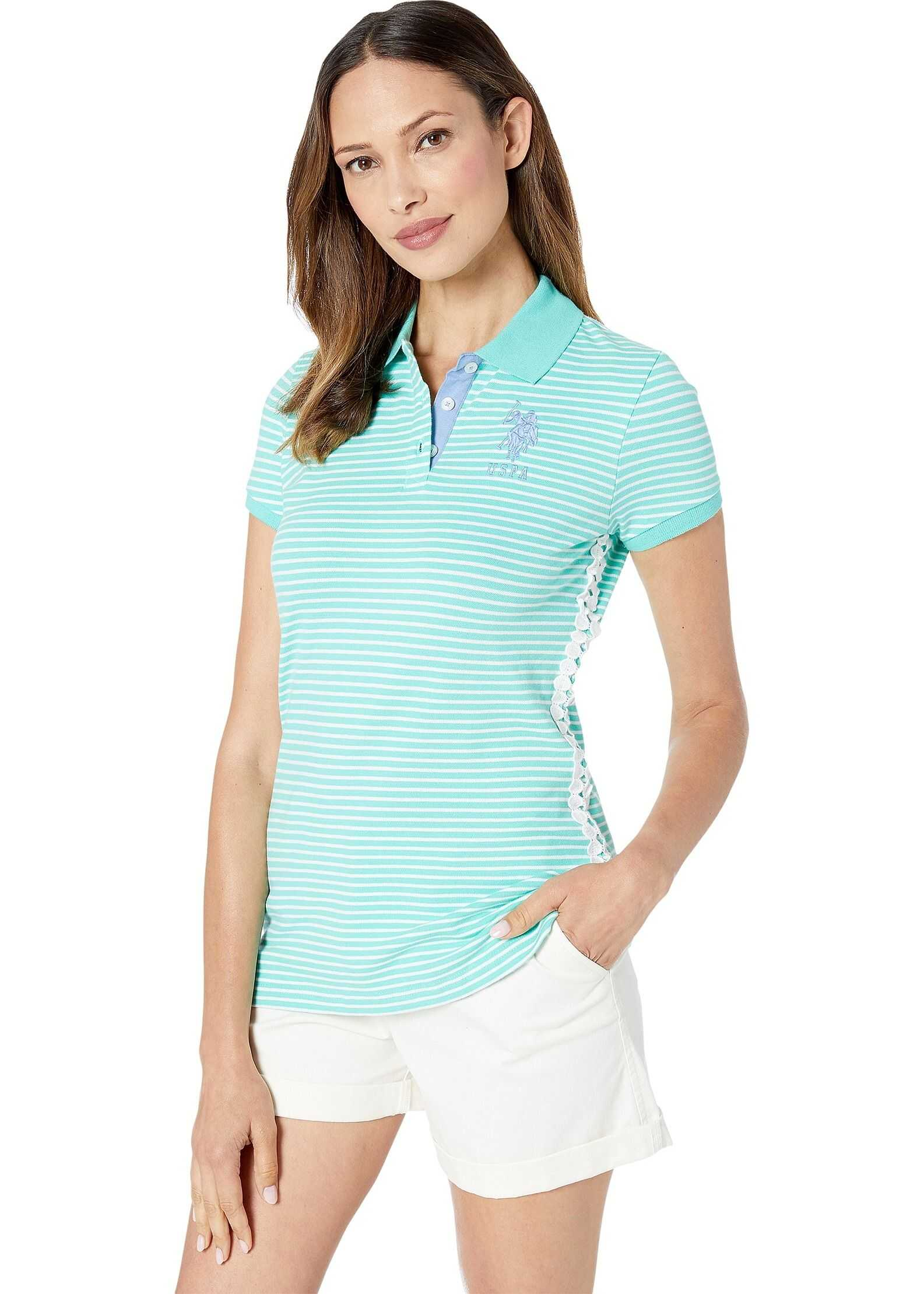U.S. POLO ASSN. Stripe w/ Lace Side Polo Cool Breeze