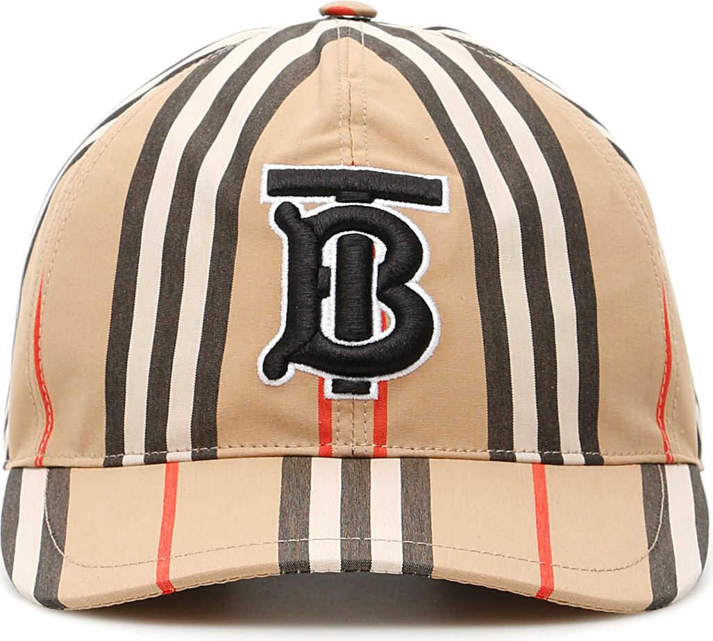 Burberry Stripe Baseball Cap ARCHIVE BEIGE