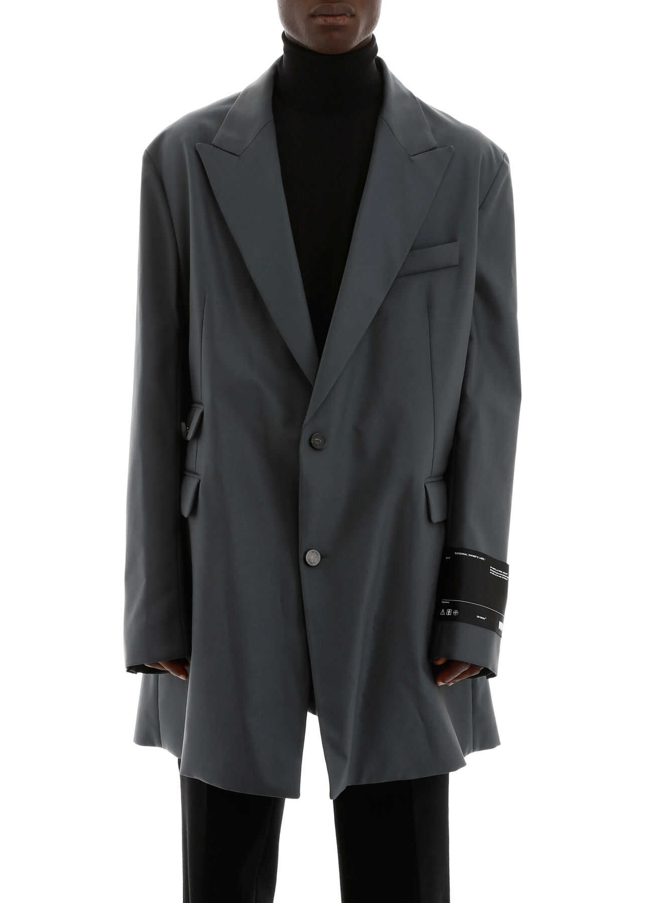 Off-White Oversized Jacket ANTHRACITE NO COLOR
