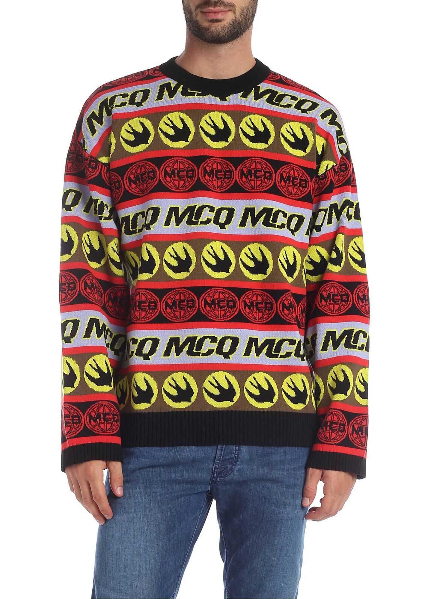 MCQ Alexander McQueen Tape Crew-Neck Pullover Multi