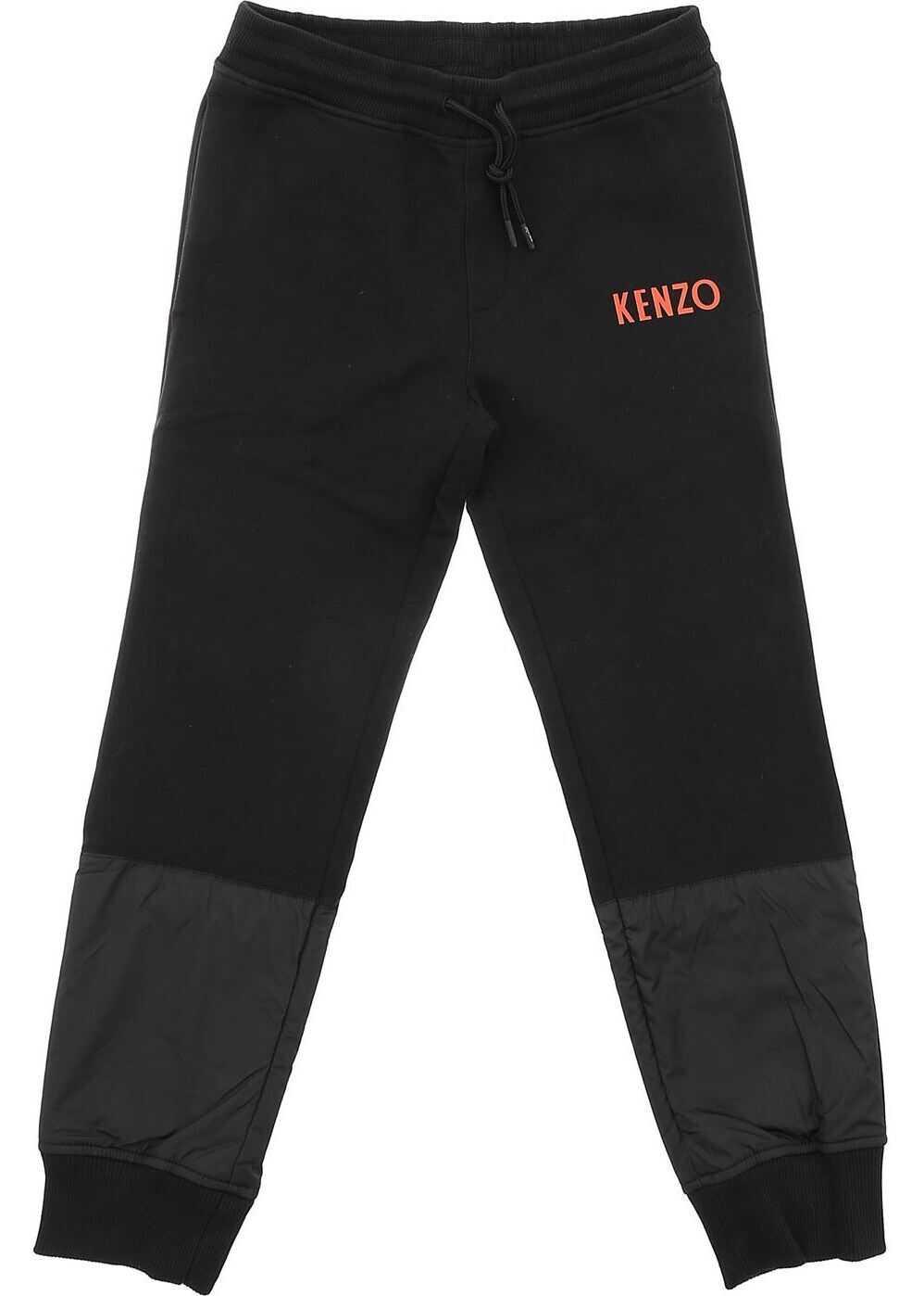 Kenzo Japanese Dragon Trousers In Black Black