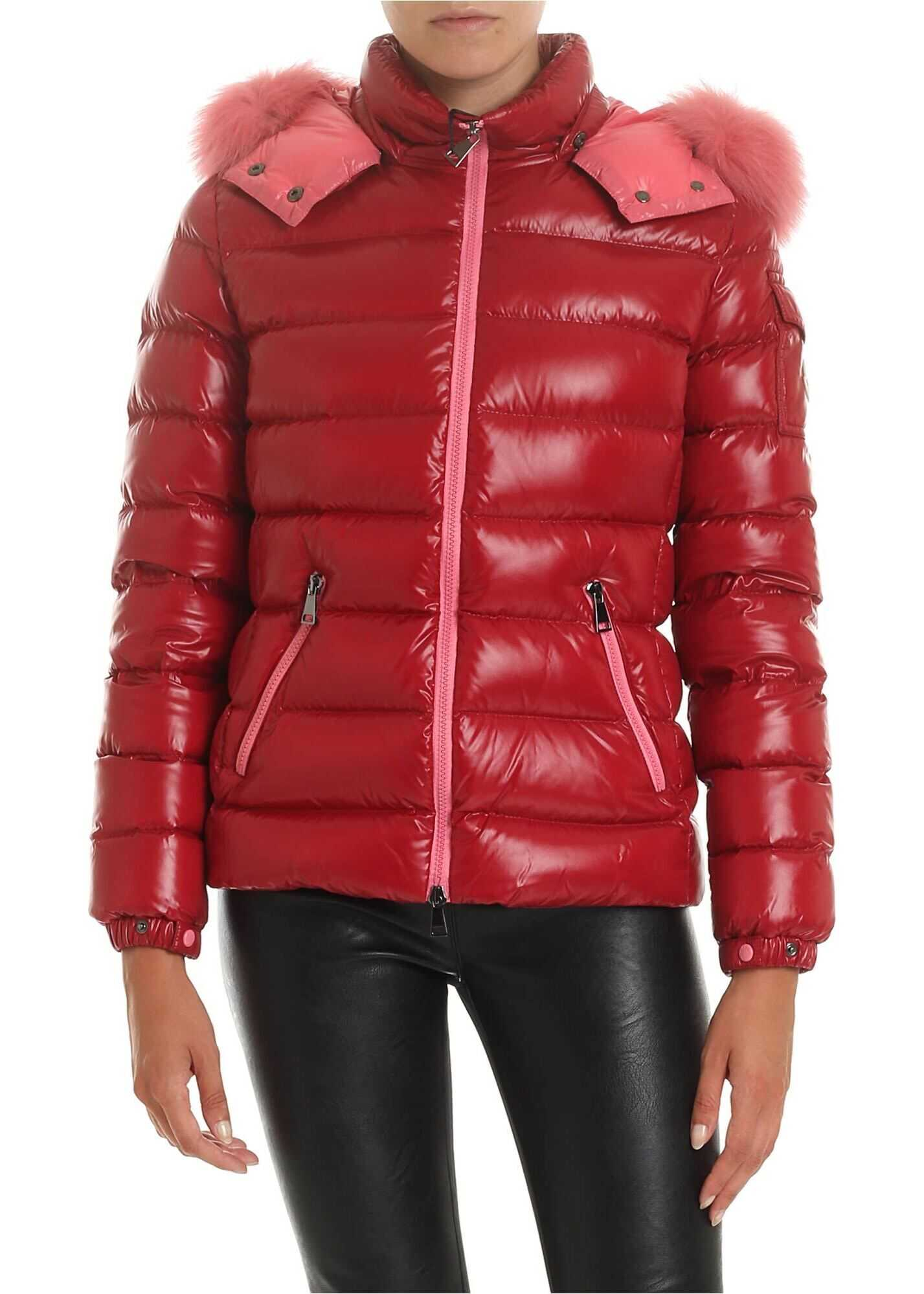 Moncler Badyfur Down Jacket In Red Red