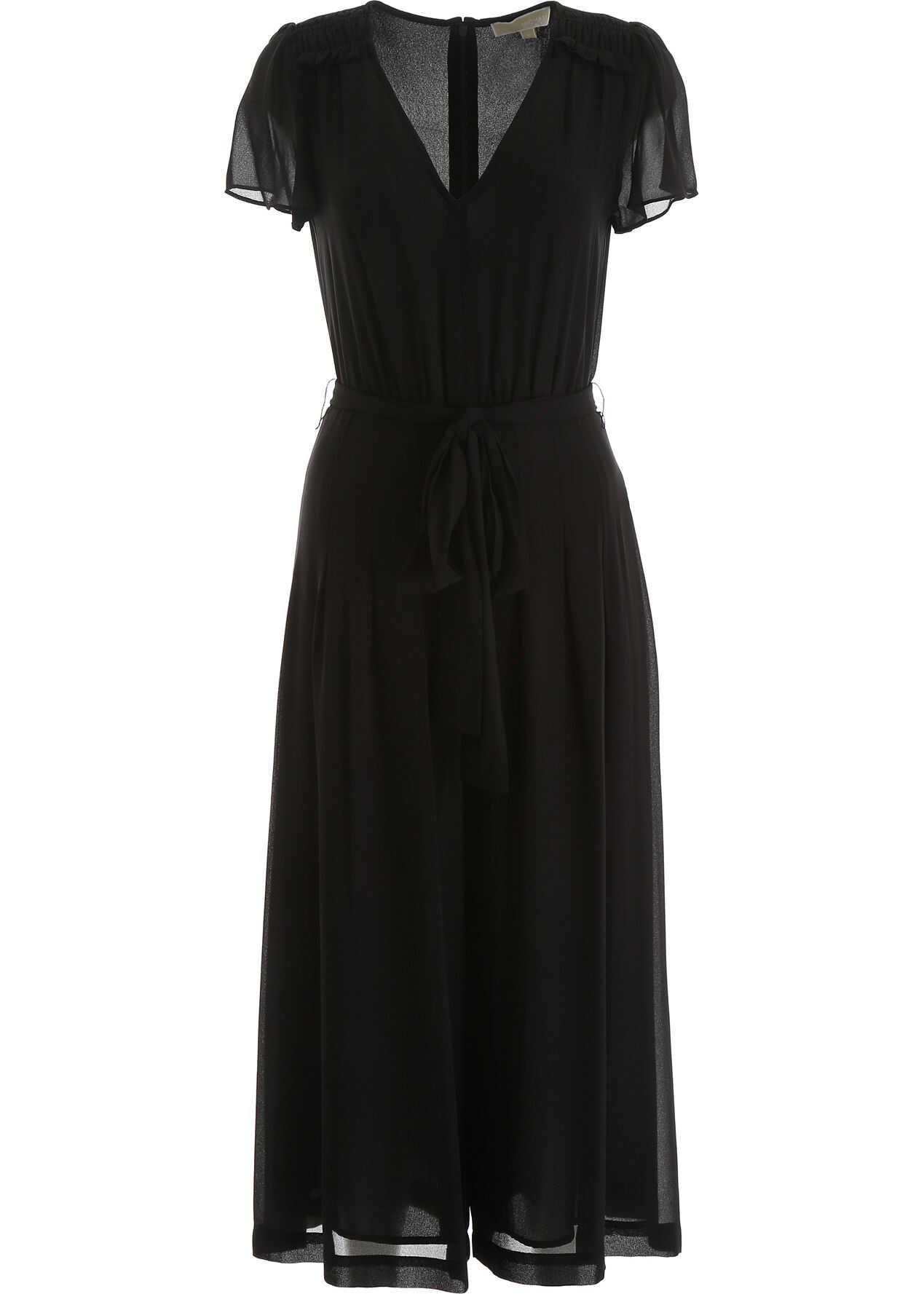 Michael Kors Georgette Jumpsuit BLACK