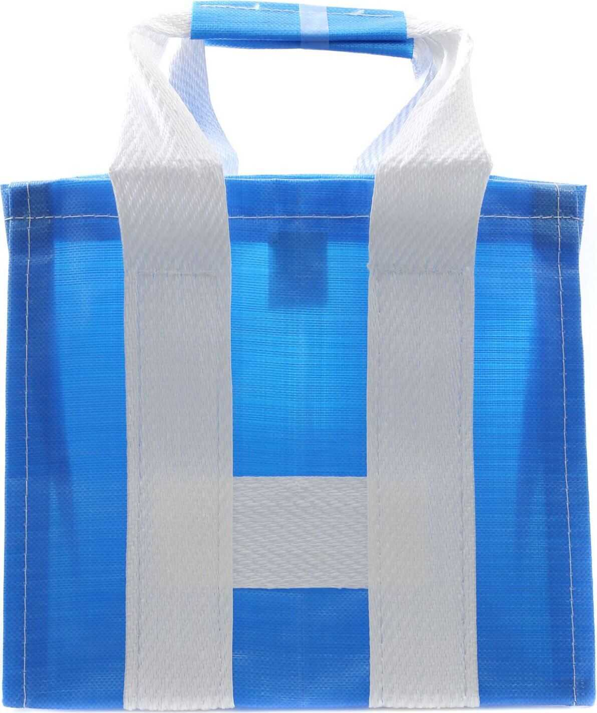 Comme des Garçons Blue And White Shopper Bag With Woven Effect Blue