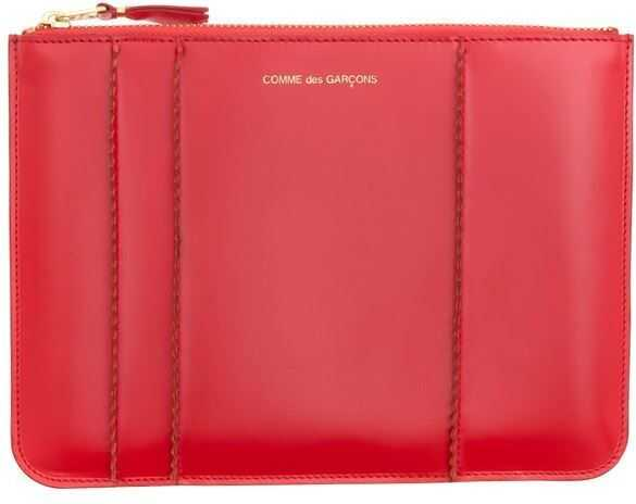 Comme des Garçons Leather Clutch Bag Red