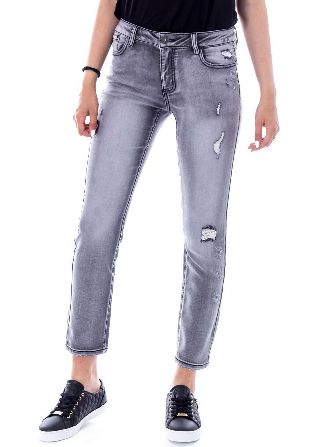 Desigual Cotton Jeans GREY