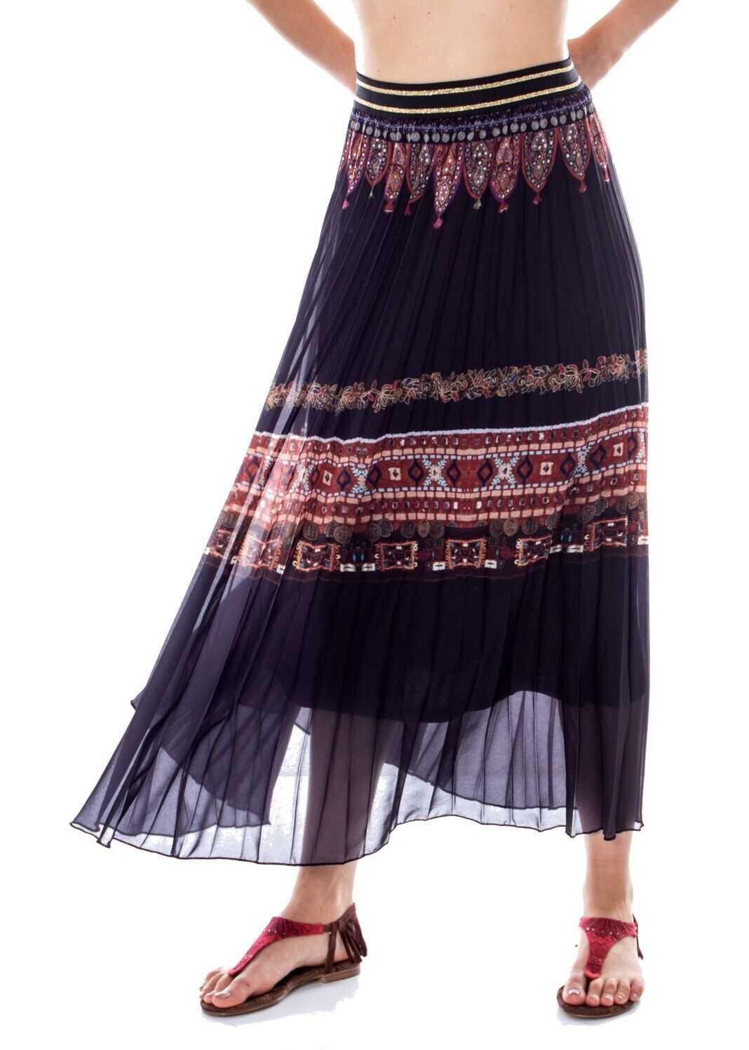 Desigual Polyester Skirt BLACK