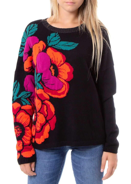 Desigual Polyamide Sweater BLACK