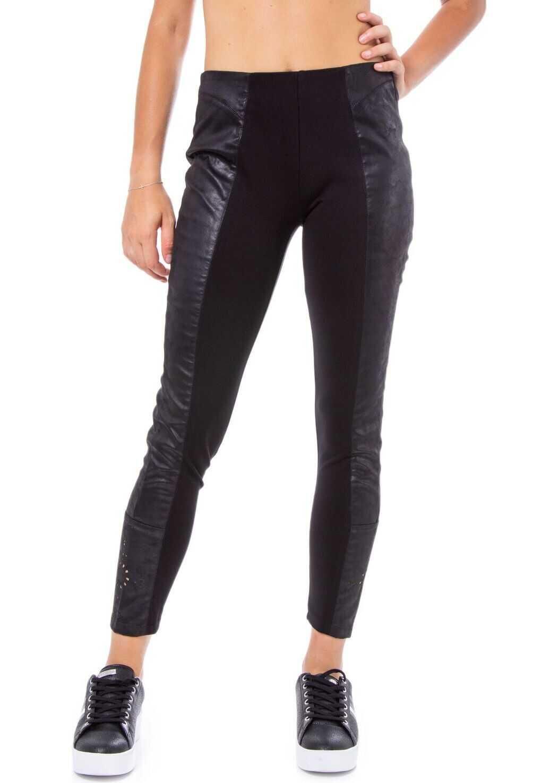 Desigual Polyester Leggings BLACK