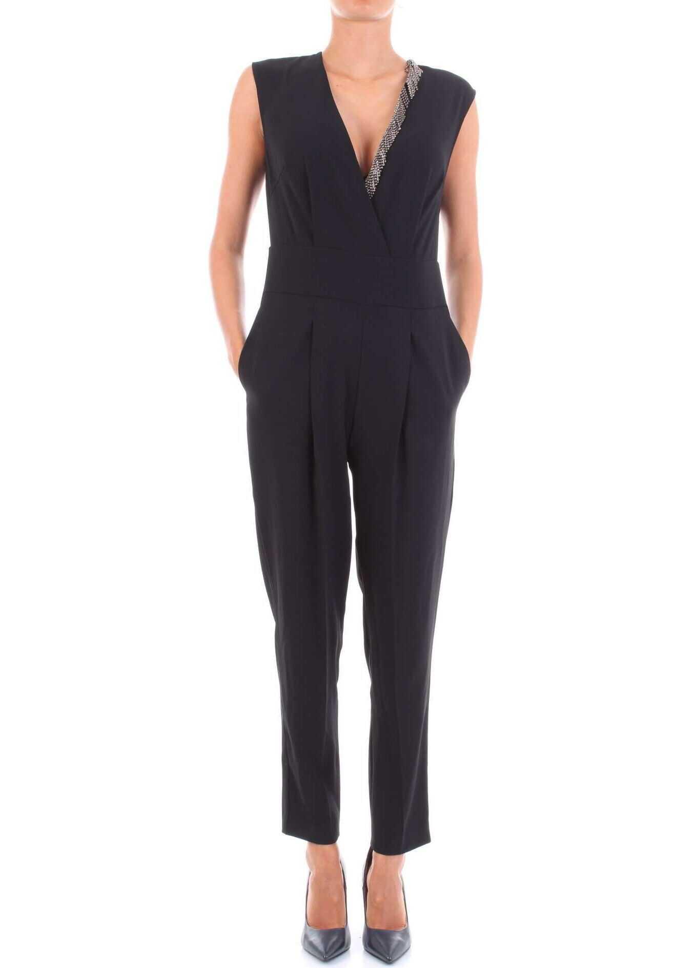 Pinko Polyester Jumpsuit BLACK