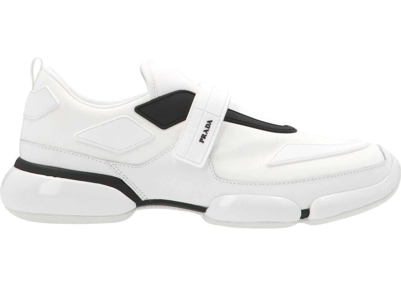 Prada Polyamide Slip On Sneakers WHITE