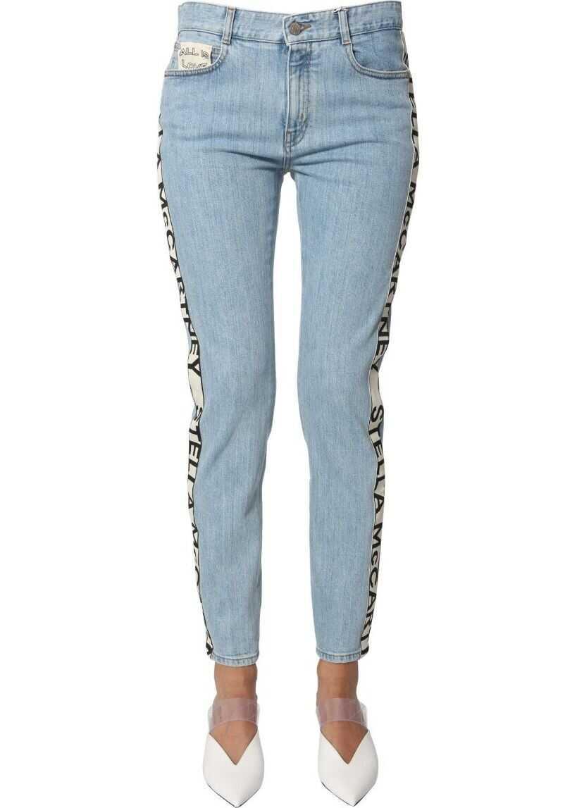 adidas by Stella McCartney Cotton Jeans LIGHT BLUE
